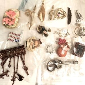 17pc Brooch Lot Resell or Wear